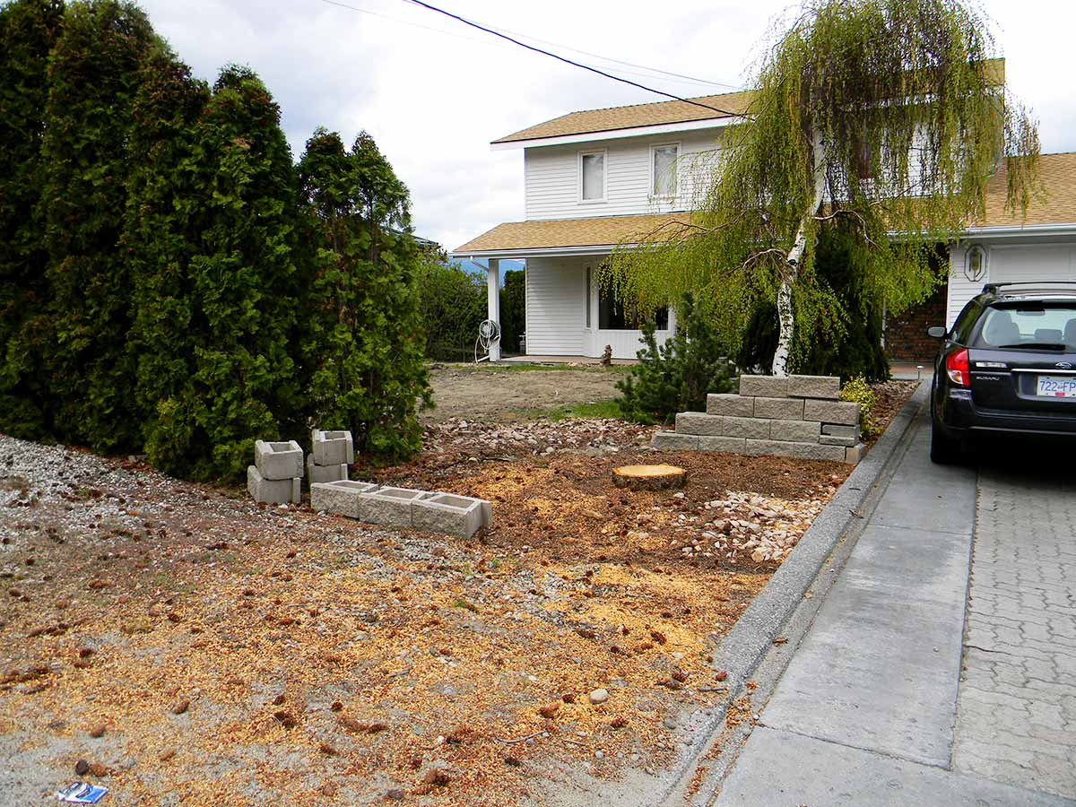 Achenbach Garden street view before the xeriscape project