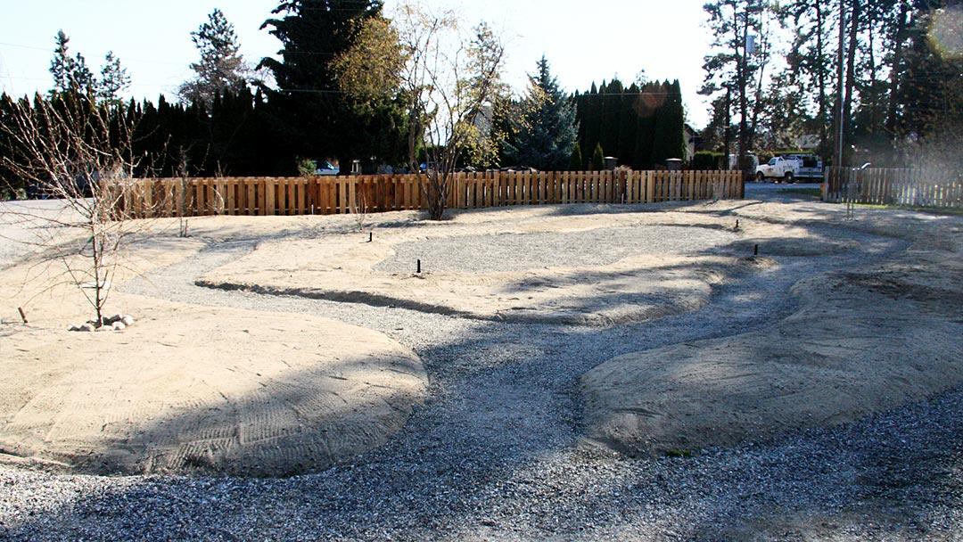 Year 1 garden layout preparation for xeriscape