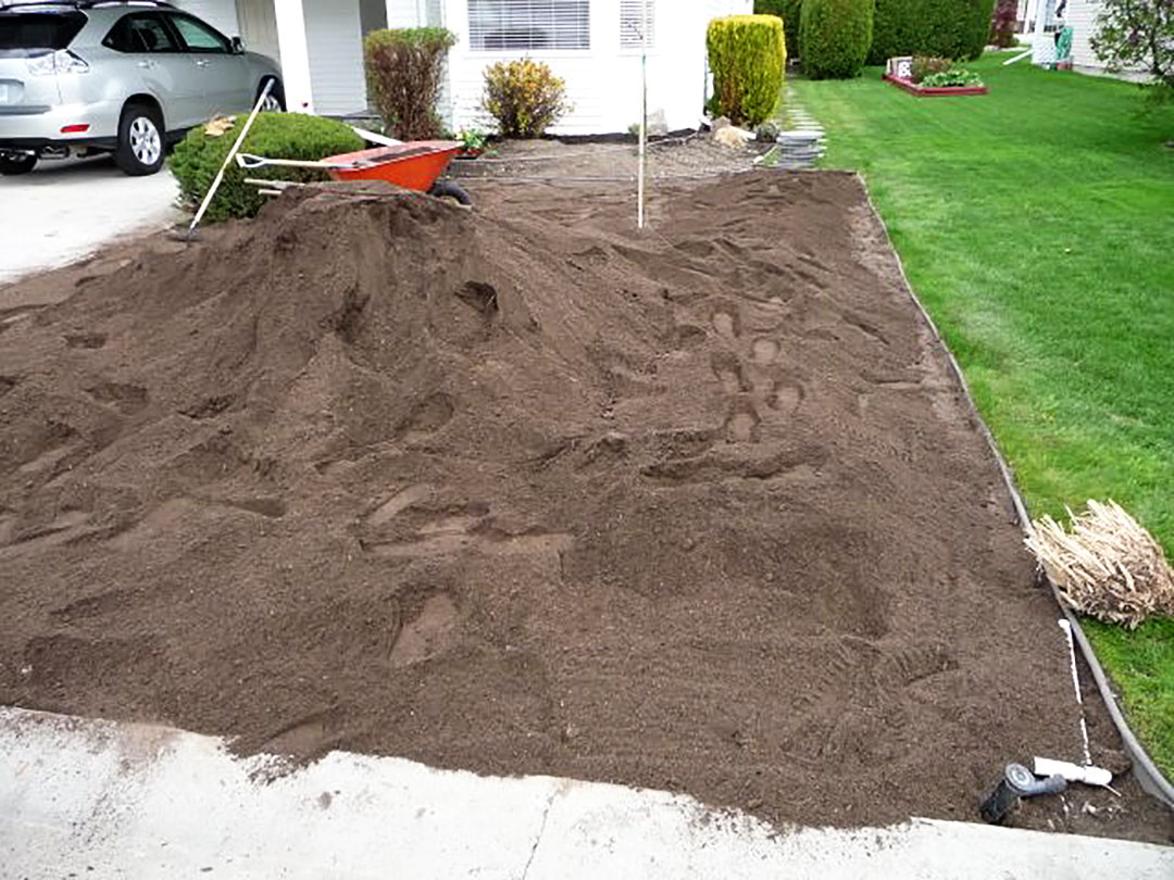 Soil preparation for xeriscape garden