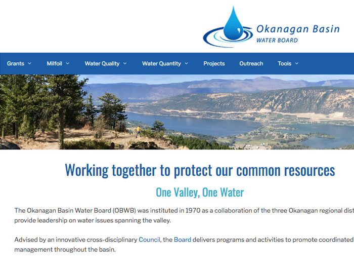 Okanagan Basin Water Board website link