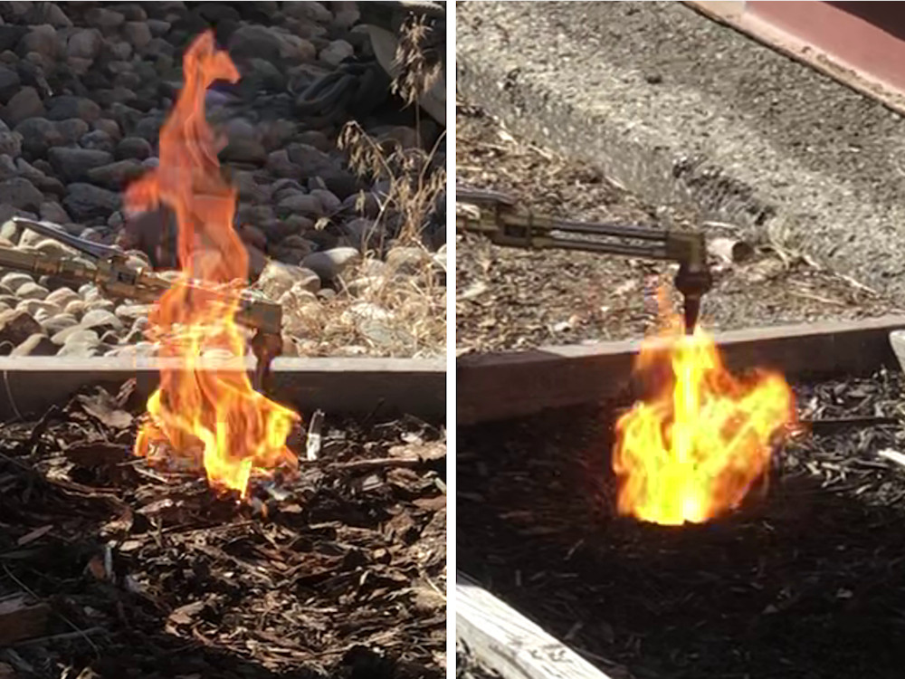 Mulch Flammability Test