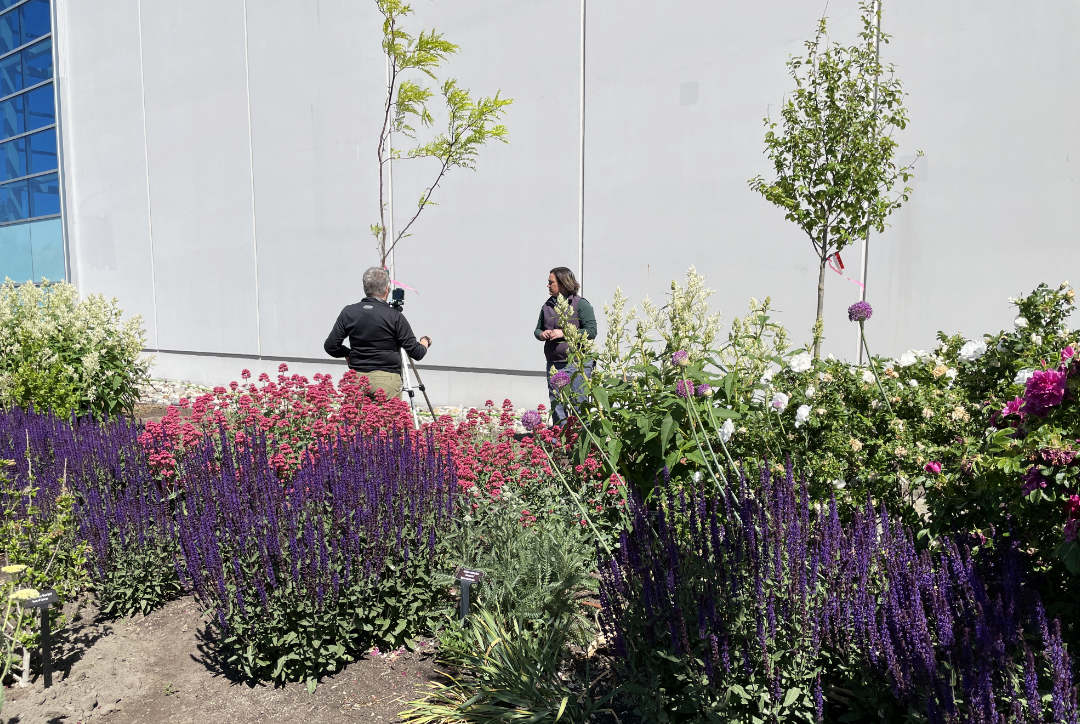 New trees being planted in OXAs UnH20 demonstration garden in Kelowna